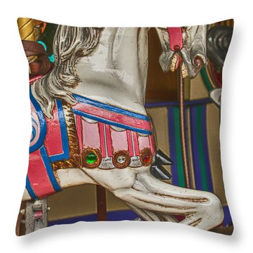 Magical Carrsoul Horse Throw Pillow by Garry Gay