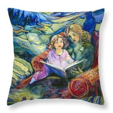Magical Storybook Throw Pillow by Jen Norton