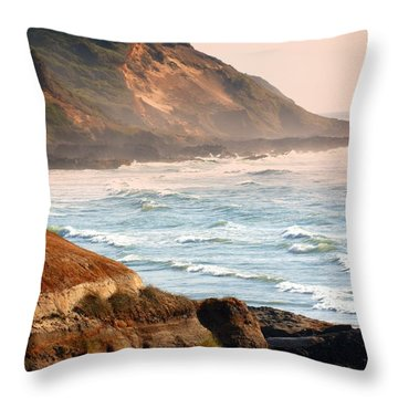 Magnificent Coast  Throw Pillow by Marty Koch