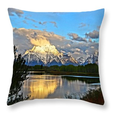 Magnificent Mountain Throw Pillow by Dan Sproul