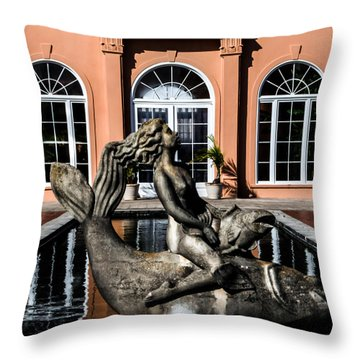 Maiden Of The Pond Throw Pillow by Renee Barnes