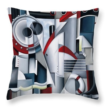 Maiden Voyage Throw Pillow by Catherine Abel