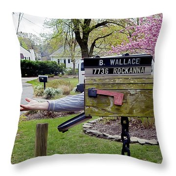 Mail Today? Throw Pillow by Brian Wallace