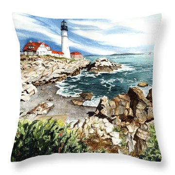 Maine Attraction Throw Pillow by Barbara Jewell