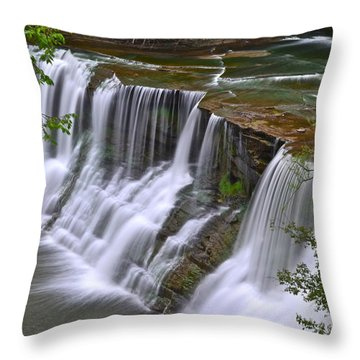 Majestic Falls Throw Pillow by Frozen in Time Fine Art Photography