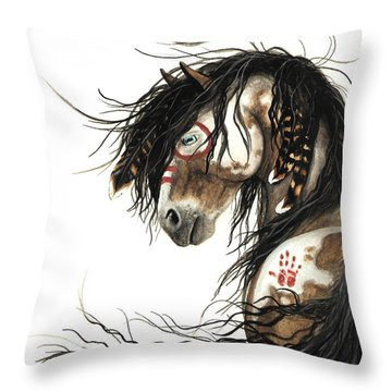 Majestic Mustang 46 Throw Pillow by AmyLyn Bihrle