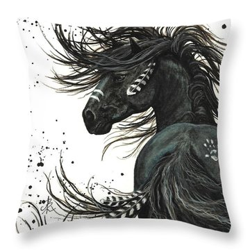 Majestic Spirit Horse 65 Throw Pillow by AmyLyn Bihrle