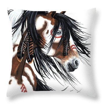 Majestic Pinto 29 Throw Pillow by AmyLyn Bihrle
