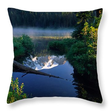 Majestic Reflection Throw Pillow by Inge Johnsson