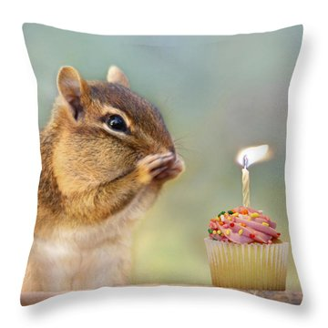 Make A Wish Throw Pillow by Lori Deiter