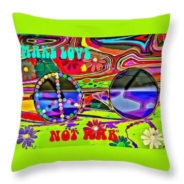 Make Love Not War Throw Pillow by Eleni Mac Synodinos