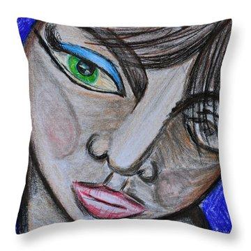 Malevolence Throw Pillow by Donna Blackhall