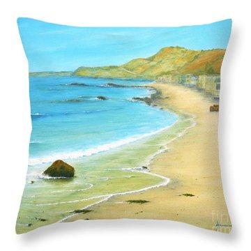 Malibu Road Throw Pillow by Jerome Stumphauzer