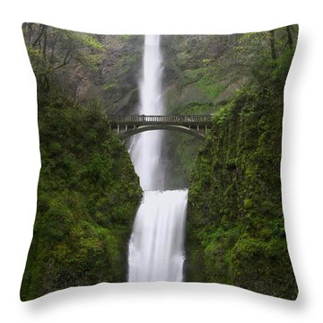 Maltnomuh Falls In The Rain  Throw Pillow by Jeff Swan