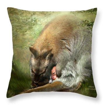 Mama Throw Pillow by Carol Cavalaris