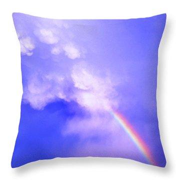 Mammatus Rainbow Of New Mexico Throw Pillow by Jason Politte