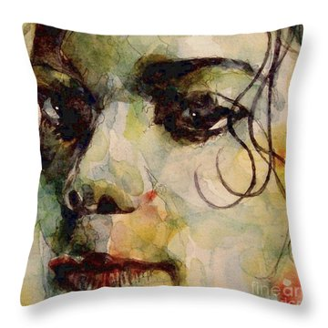 Man In The Mirror Throw Pillow by Paul Lovering