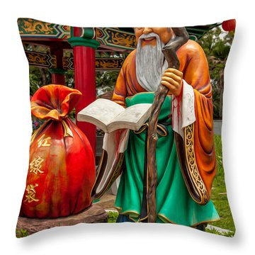 Man Under The Moon Throw Pillow by Adrian Evans