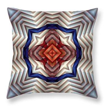 Mandala 11 Throw Pillow by Terry Reynoldson