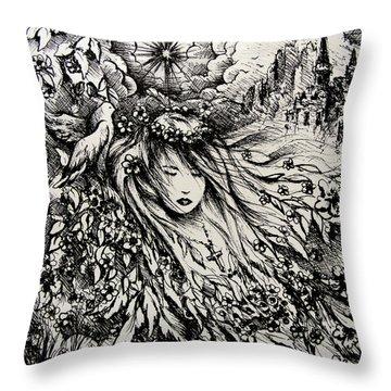 Mandee's Dream Throw Pillow by Rachel Christine Nowicki