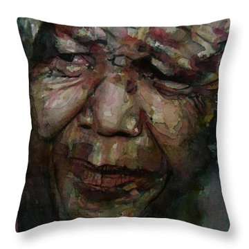 Mandela   Throw Pillow by Paul Lovering