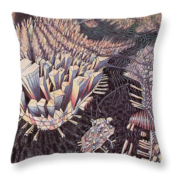 Manhattan Throw Pillow by Charlotte Johnson Wahl