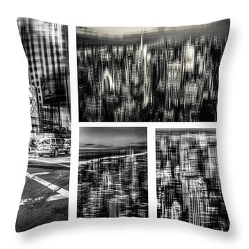 Manhattan Collection I Throw Pillow by Hannes Cmarits