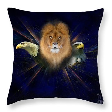 Manifold Presence Throw Pillow by Tamer and Cindy Elsharouni