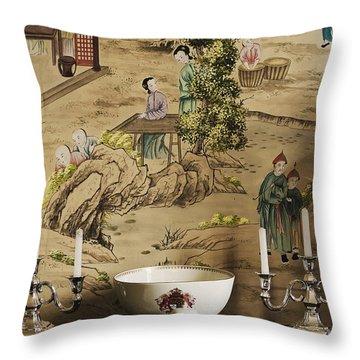 Manor Interior Throw Pillow by Svetlana Sewell