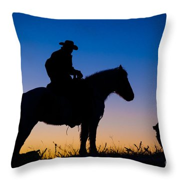 Man's Best Friend Throw Pillow by Inge Johnsson
