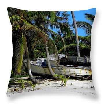 Man's Lost Dream Throw Pillow by Karen Wiles