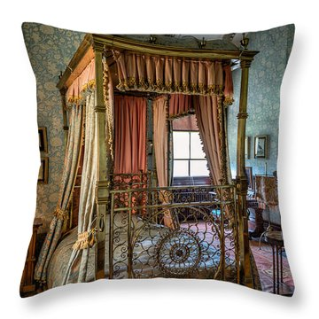 Mansion Bedroom Throw Pillow by Adrian Evans