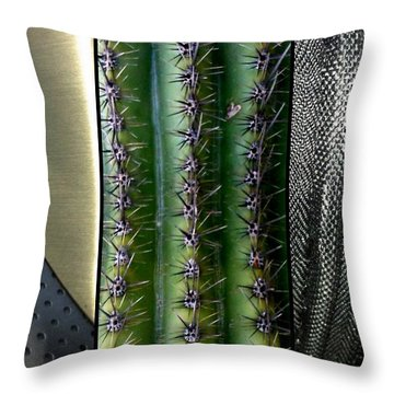 Manufactured Ouch Throw Pillow by Marlene Burns