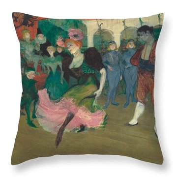 Marcelle Lender Dancing The Bolero In Chilperic Throw Pillow by Toulouse-Lautrec