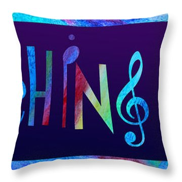 Marching Band Throw Pillow by Jenny Armitage