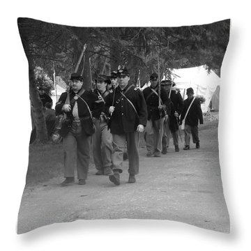 Marching Off To Battle Throw Pillow by Sara  Raber