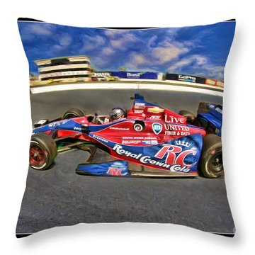Marco Andretti Throw Pillow by Blake Richards