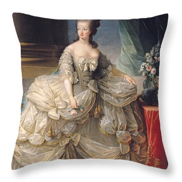 Marie Antoinette Queen Of France Throw Pillow by Elisabeth Louise Vigee-Lebrun