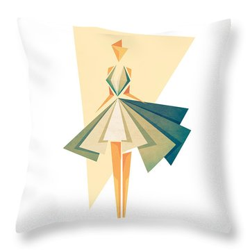 Marilyn Throw Pillow by VessDSign