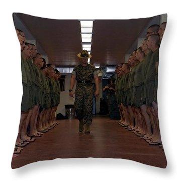 Marine Basic Training Throw Pillow by Mountain Dreams