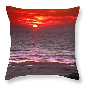 Marine Sunset Throw Pillow by Robert Bales