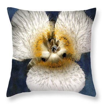 Mariposa Lily Two Throw Pillow by Belinda Greb