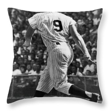 Maris Hits 52nd Home Run Throw Pillow by Underwood Archives