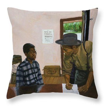Mark Of Shame Throw Pillow by Colin Bootman