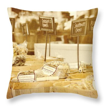 Market Day Throw Pillow by Kim Hojnacki