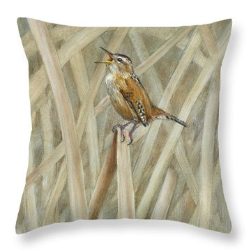 Marsh Melody Throw Pillow by Rob Dreyer AFC