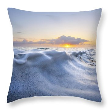 Marshmallow Tide Throw Pillow by Sean Davey