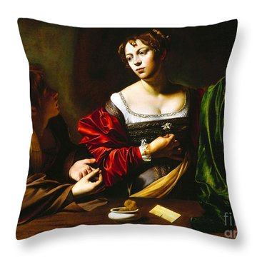 Martha And Mary Magdalene Throw Pillow by Pg Reproductions