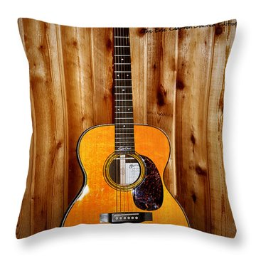 Martin Guitar - The Eric Clapton Limited Edition Throw Pillow by Bill Cannon