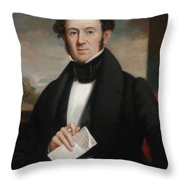 Martin Van Buren Throw Pillow by Shepard Alonzo Mount